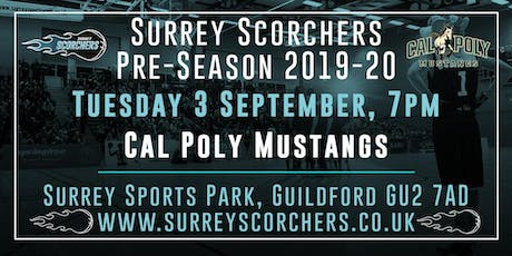 Surrey Scorchers v Cal Poly Mustangs - 2019 Pre-Season tickets