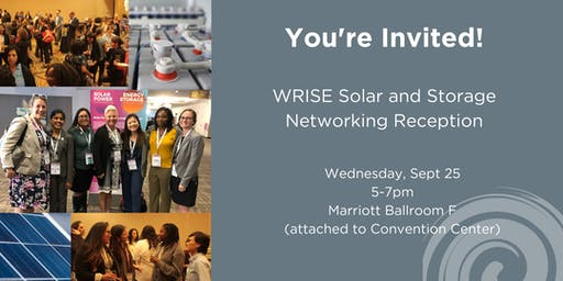 WRISE Solar and Storage Networking Reception