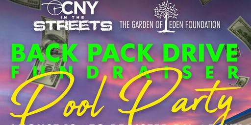 BACK PACK DRIVE POOL PARTY AT THE MANSION