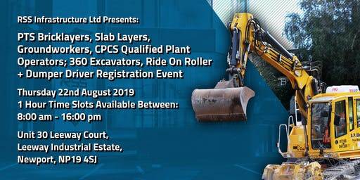 PTS Bricklayer, Slab Layer, Groundworker + CPCS Qualified Recruitment Event