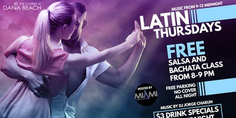 Latin Thursdays at The Casino at Dania Beach featuring Dj Charun tickets