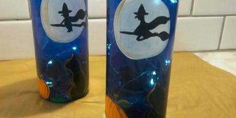 Oct 15 - Not Your Average Paint and Sip - SPOOKY Wine Bottle tickets
