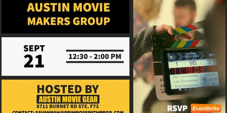 Austin Movie Makers Group Monthly Meeting (Sept 2019) tickets