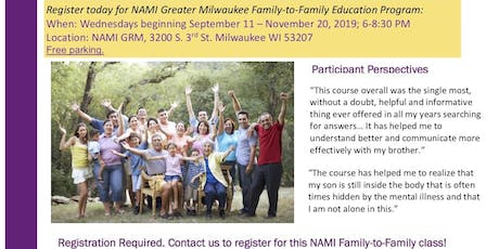 NAMI Family-to-Familly Education Program tickets