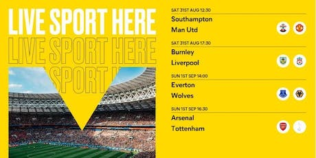 Sport at The Albany - Premier league tickets