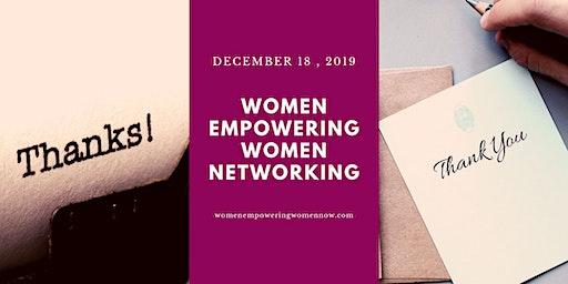 Women Empowering Women Networking December 2019