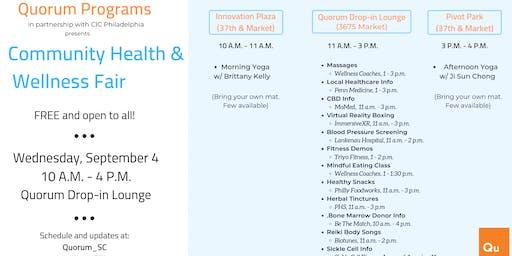 Community Health & Wellness Fair at 3675 Market