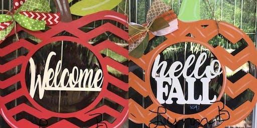 Fall Door Hanger/Sign Paint night