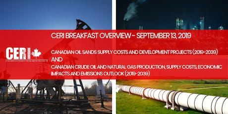 CERI Breakfast Overview - Oil Sands Supply Cost Update & Crude Oil Outlook tickets