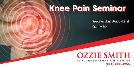 Ozzie Smith Center KNEE Pain Seminar - 8/21