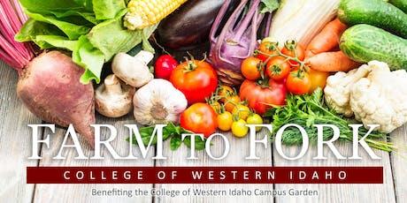 CWI Garden - Farm to Fork Dinner tickets