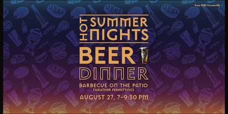 Hot Summer Nights Beer Dinner tickets