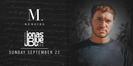 Jonas Blue at Mémoire tickets