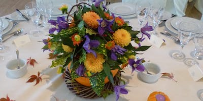 Pumpkin Surprise Flower Arrangement workshop