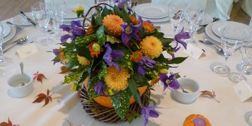 Pumpkin Surprise Flower Arrangement workshop
