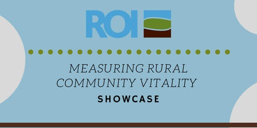Measuring Rural Community Vitality Showcase