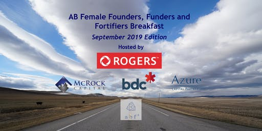 AB Female Founders, Funders and Fortifiers breakfast - Sep 2019 Edition