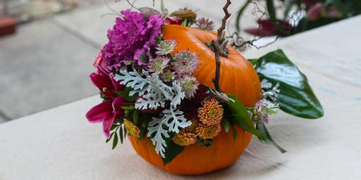 Adults Pumpkin Carving, Gin and Flower Arranging Workshop