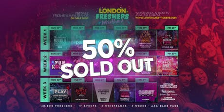 The Official London Freshers Wristband 2019 tickets