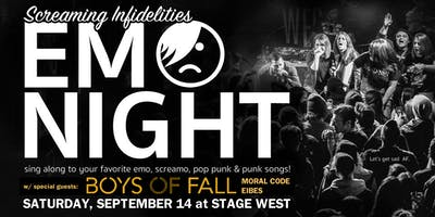 Emo Night at Stage West w/ Boys of Fall