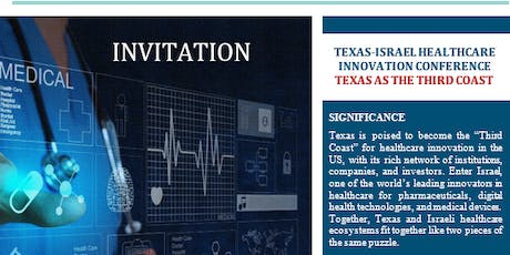 Texas-Israel Healthcare Innovation Conference tickets