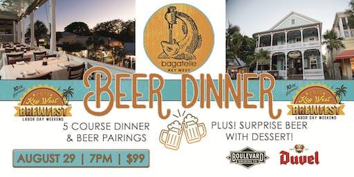 Bagatelle Brewfest Beer Dinner