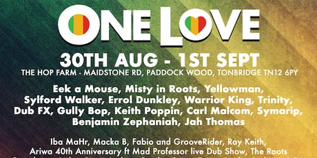 One Love Festival 2019 (BOGOF (Asahi beer Promotion) ) tickets