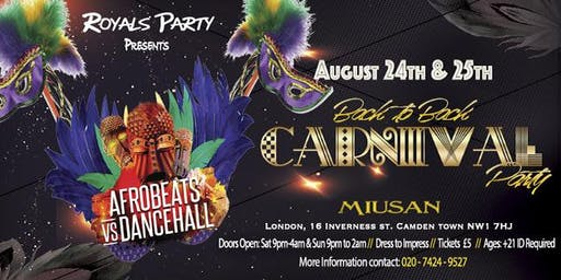 "Royals Party ""Afrobeats Vs Dancehall"" Carnival pre party"
