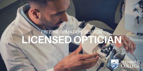Free Licensed Optician Program Info Session: September 10 (Evening) tickets