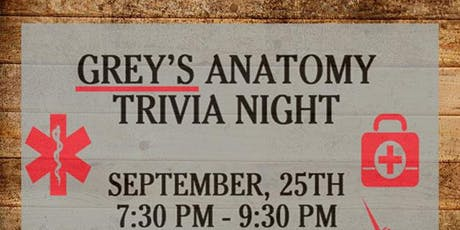 GREY'S ANATOMY TRIVIA NIGHT AT SOUTHSIDE CULHANE'S tickets