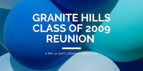 Granite Hills High School Class of 2009 Reunion  tickets
