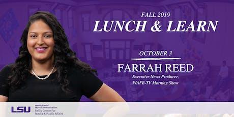 Lunch & Learn: Farrah Reed tickets