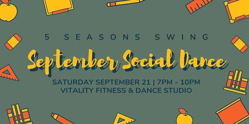 5 Seasons: September Monthly Social Dance