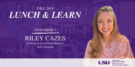 Lunch & Learn: Riley Cazes tickets