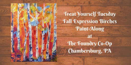 Treat Yourself Tuesday Paint-Along - Fall Expression Birches