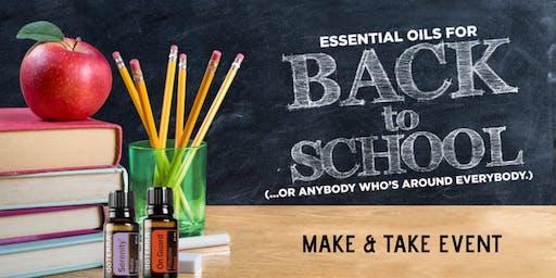 Back to School Essential Oil Make & Take