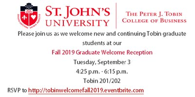 Fall 2019 Graduate Welcome Reception