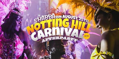 Shabba Notting Hill Carnival Afterparty - Rampage Sound + Many More