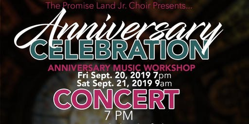 Jr. Choir Anniversary Celebration Workshop & Concert