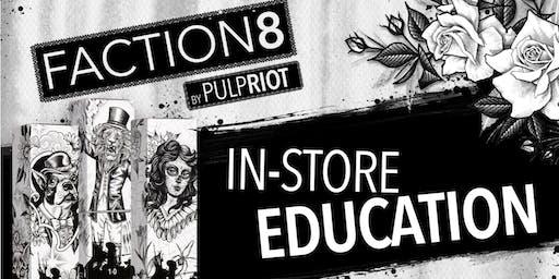 Pulp Riot Faction8 Advanced Edu PM class in Salina, KS