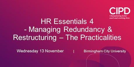HR Essentials 4: Managing Redundancy & Restructuring – The Practicalities tickets