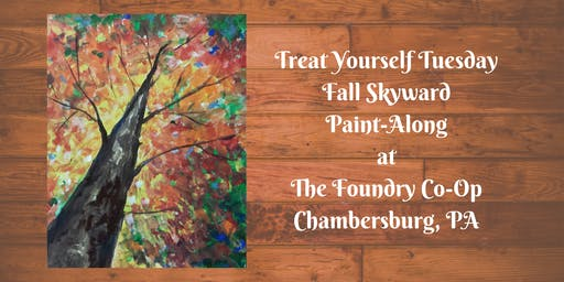 Treat Yourself Tuesday Paint-Along - Fall Skyward