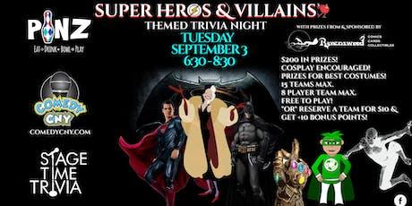 Super Heros & Villains Themed Trivia tickets
