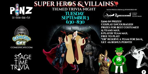 Super Heros & Villains Themed Trivia