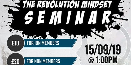 The Revolution Mindset Seminar @ ION Strength and Conditioning tickets