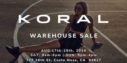 KORAL Warehouse Sale - Costa Mesa, CA