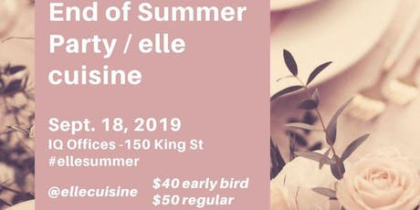 Elle Cuisine Summer Party tickets