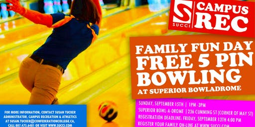 FREE Family Fun 5 Pin Bowling