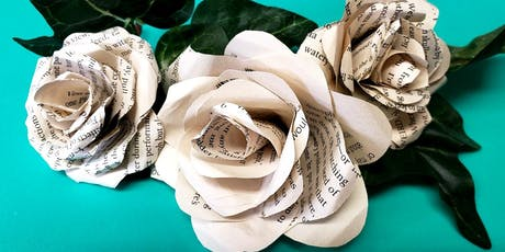 DIY Craft: Book Page Roses tickets
