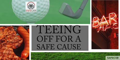 Teeing off for a  SAFE Cause tickets